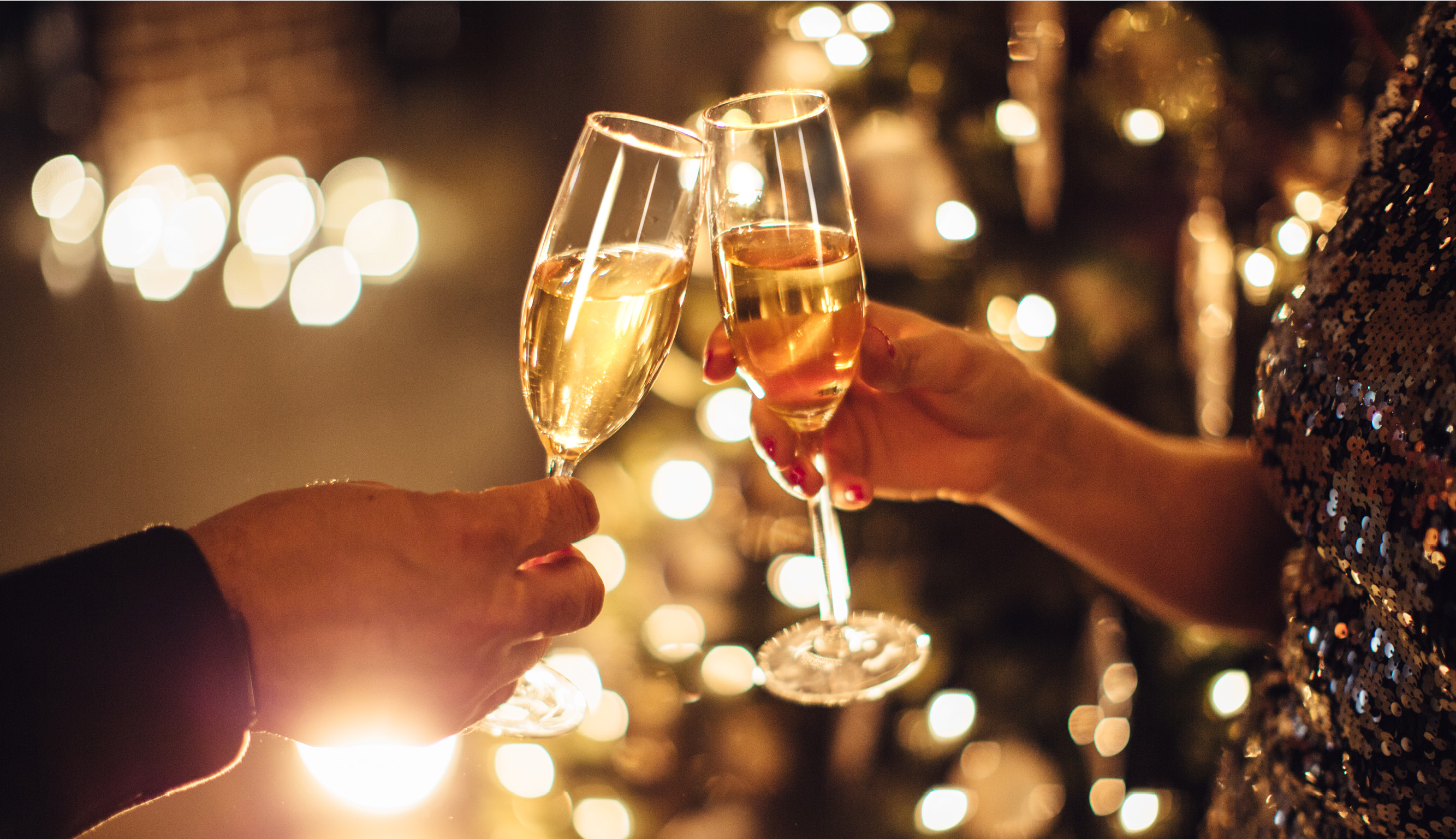Couple toasting to the New Year
